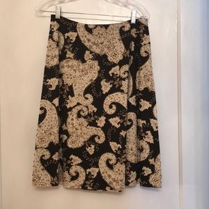 Black and White market skirt